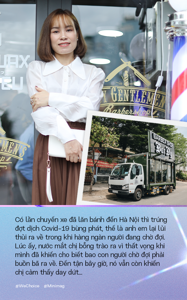 """Người phụ nữ đứng sau chiếc xe cắt tóc tiền tỷ đi khắp Việt Nam gom 10.000 nụ cười gây quỹ: """"Ngày nào ít tiền thì đó là ngày hạnh phúc nhất"""" - Ảnh 11."""