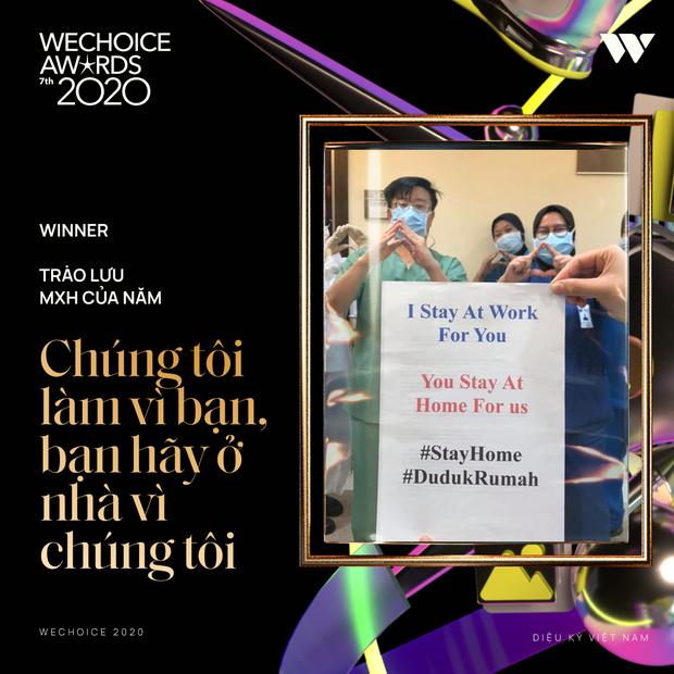 Chúng tôi đi làm vì bạn, bạn hãy ở nhà vì chúng tôi chiến thắng hạng mục Trào lưu mạng xã hội của năm tại WeChoice 2020! - Ảnh 2.