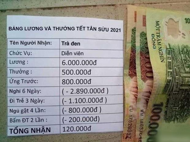 Thực hư phong bì tiền của thanh niên tên Tân nổi rần rần khắp MXH, Tết đến nơi mà cả lương và thưởng chỉ có... 110.000 đồng - Ảnh 2.