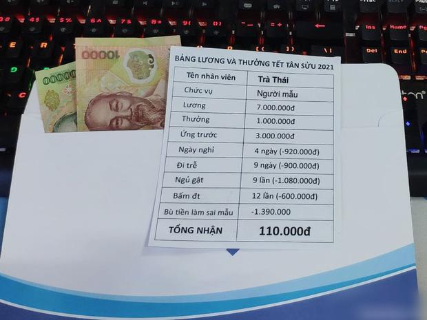Thực hư phong bì tiền của thanh niên tên Tân nổi rần rần khắp MXH, Tết đến nơi mà cả lương và thưởng chỉ có... 110.000 đồng - Ảnh 3.
