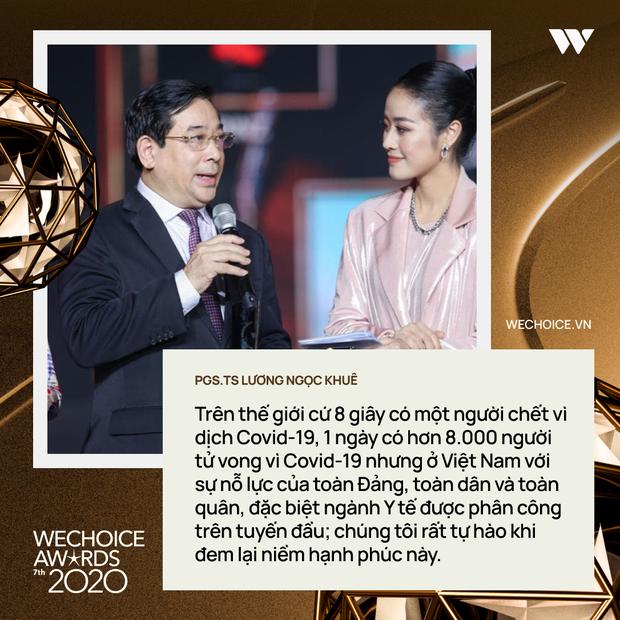 Top 10 nhân vật truyền cảm hứng và những chia sẻ lay động trái tim trong đêm Gala WeChoice Awards 2020 - Ảnh 1.