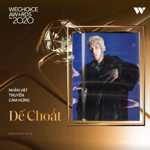 Rap Việt đại thắng tại WeChoice Awards 2020, Binz - Dế Choắt - MCK đều có giải mang về - Ảnh 3.