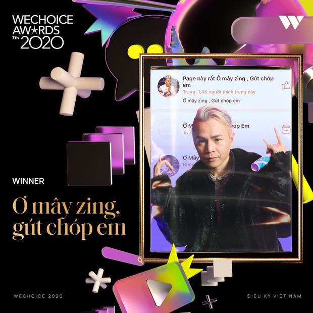 Rap Việt đại thắng tại WeChoice Awards 2020, Binz - Dế Choắt - MCK đều có giải mang về - Ảnh 5.