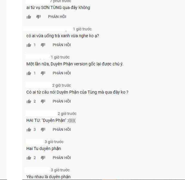 Phía dưới bài hát Duyên Phận của Như Quỳnh tràn ngập bình luận của netizen: Sơn Tùng M-TP và Hai Tu Duyên Phận đã đưa tôi đến đây! - Ảnh 2.