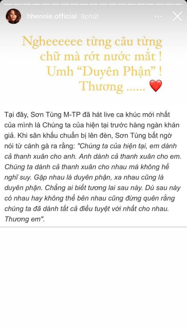 """Fan cứng H'Hen Niê rớt nước mắt khi idol Sơn Tùng M-TP và bạn gái tin đồn Thiều Bảo Trâm vướng drama tan vỡ vì """"trà xanh"""" - Ảnh 2."""