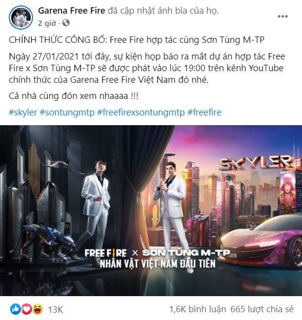 Nóng: Sơn Tùng M-TP chính là người Việt đầu tiên được xây dựng thành nhân vật trong game Free Fire, điển trai như bản gốc - Ảnh 2.