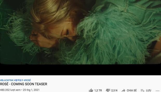 Mới tung teaser thôi mà Rosé đã tự xô đổ thành tích nội bộ nhà BLACKPINK, thiết lập kỷ lục tốc độ triệu likes trên mặt trận nữ idol solo - Ảnh 3.