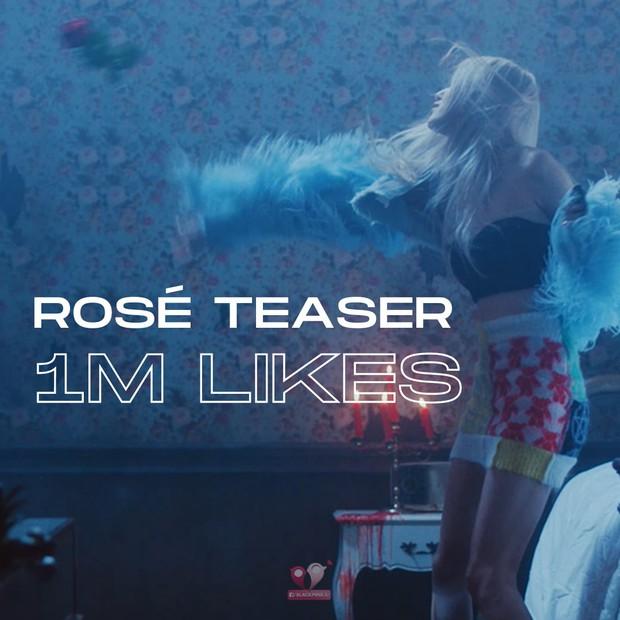 Mới tung teaser thôi mà Rosé đã tự xô đổ thành tích nội bộ nhà BLACKPINK, thiết lập kỷ lục tốc độ triệu likes trên mặt trận nữ idol solo - Ảnh 2.