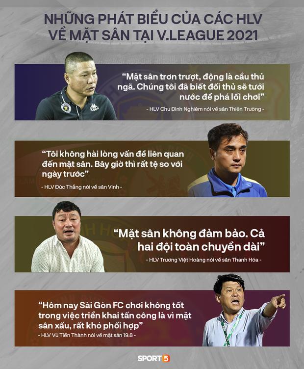 Mặt sân đá V.League 2021: Chúng ta của hiện tại chưa dành những gì tốt nhất cho nhau - Ảnh 1.