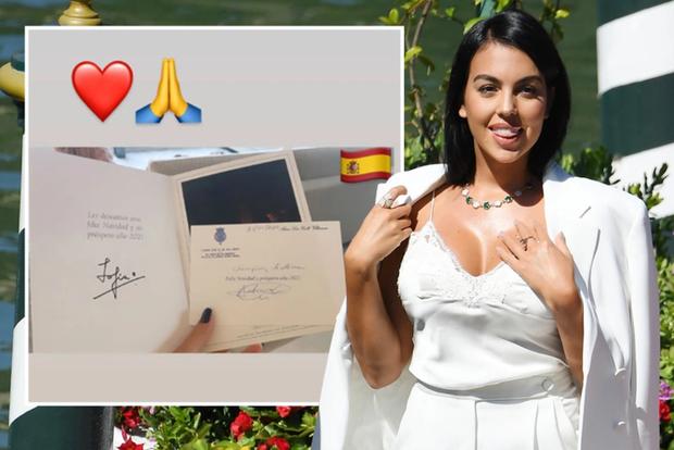 Hành động cao đẹp, bạn gái Ronaldo nhận món quà ý nghĩa từ Hoàng gia Tây Ban Nha - Ảnh 1.