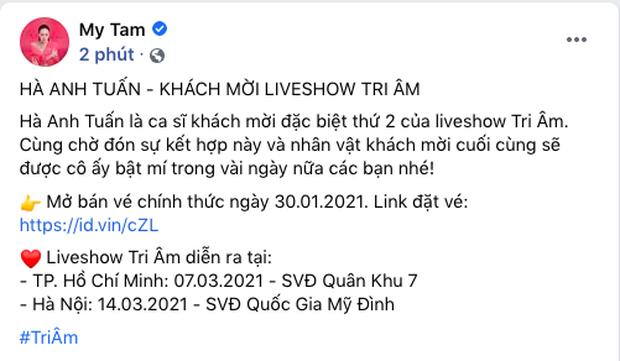 Sau Phan Mạnh Quỳnh, Hà Anh Tuấn sẽ là khách mời thứ 2 trong liveshow Tri Âm của Mỹ Tâm - Ảnh 1.
