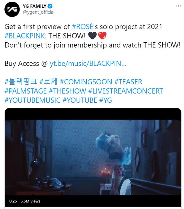 Rosé phá kỷ lục lượt xem teaser của nghệ sĩ nữ Kpop sau 24 giờ, chưa chính thức debut đã cho BLACKPINK ngửi khói? - Ảnh 5.