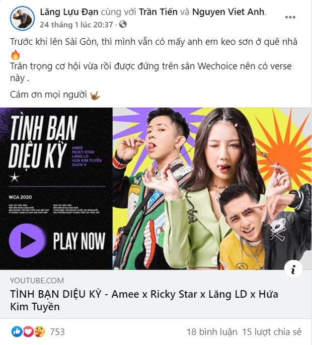 Ricky Star - Lăng LD và gang OTD từng mong ước được diễn tại WeChoice Awards trên sân khấu lớn, năm nay đã thành hiện thực! - Ảnh 2.