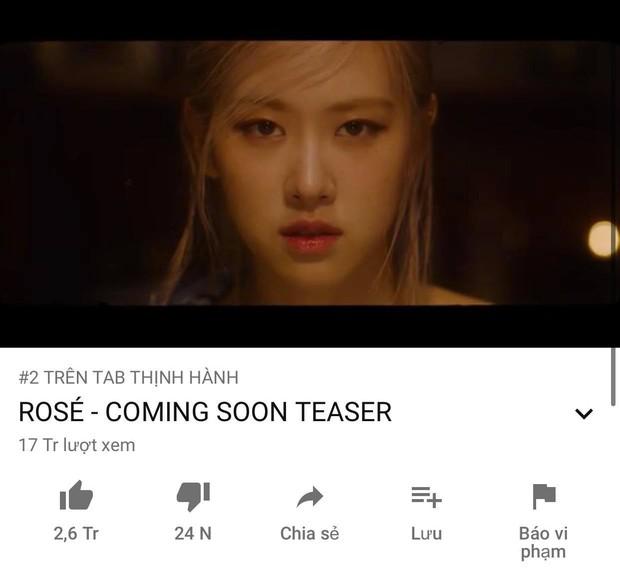 Teaser của Rosé công phá top trending YouTube Việt Nam hậu xô đổ kỷ lục 24h của BLACKPINK, cạnh tranh giữa một rừng vlog và phim ảnh - Ảnh 2.