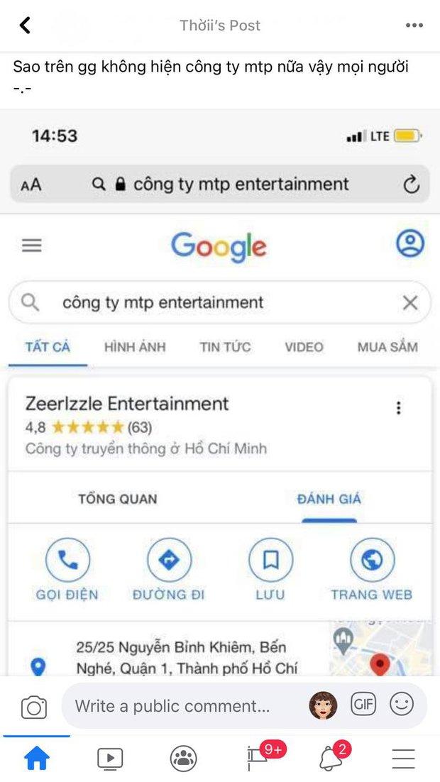 Sơn Tùng vừa ra mắt MV mới, công ty M-TP Entertainment lại bất ngờ bay màu trên Google, chuyện gì xảy ra? - Ảnh 2.