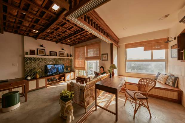 Lấy vợ Việt Nam, chàng trai Canada thiết kế căn hộ đậm chất truyền thống, xứng đáng điểm 10 cho sự tinh tế - Ảnh 5.