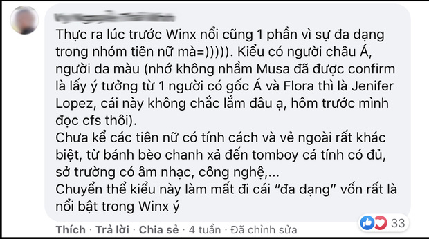 Vừa lên top 1 Thịnh hành, Winx bản người đóng đã nổ ra tranh cãi vì nghi vấn thay đổi sắc tộc nhân vật - Ảnh 7.
