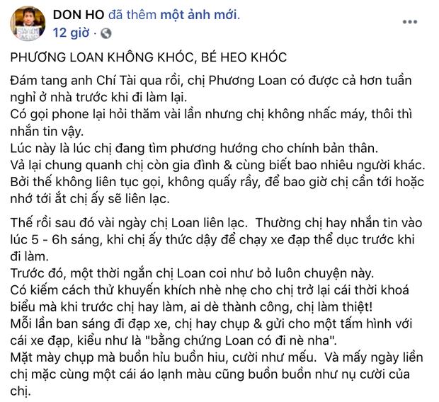 Nhói lòng cuộc sống của ca sĩ Phương Loan sau khi NS Chí Tài mất và câu nói xót xa: Nhớ anh Tài quá, làm sao cho hết nhớ đây - Ảnh 2.
