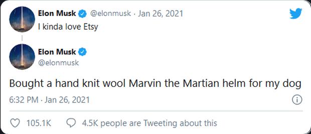 Dòng tweet của Elon Musk lại làm cổ phiếu một công ty ít tên tuổi tăng vọt - Ảnh 1.