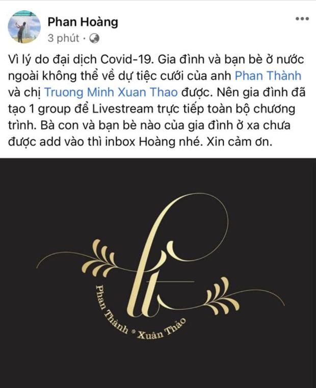 Đám cưới của thiếu gia Saigon Square sẽ được livestream cho bà con vì COVID-19 không về nước được - Ảnh 2.