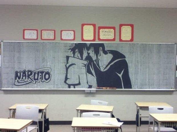 """Dân mạng trầm trồ trước tài năng vẽ của học sinh Nhật Bản: Chỉ phấn trắng, bảng xanh cũng tạo nên những """"tuyệt phẩm"""" thế này đây! - Ảnh 7."""