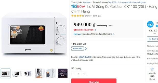 10 lò vi sóng đang sale 50%, loanh quanh 1 triệu là sắm được 1 chiếc xịn xò - Ảnh 1.