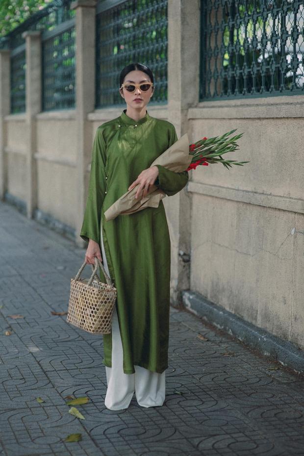 Hà Tăng nhá hàng loạt ảnh Tết: Diện áo dài nền nã xuống phố, nhan sắc tuổi 34 vẫn khiến bao trái tim thổn thức - Ảnh 2.