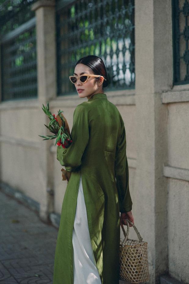 Hà Tăng nhá hàng loạt ảnh Tết: Diện áo dài nền nã xuống phố, nhan sắc tuổi 34 vẫn khiến bao trái tim thổn thức - Ảnh 3.