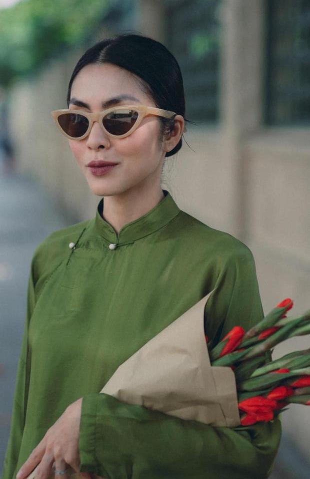 Hà Tăng nhá hàng loạt ảnh Tết: Diện áo dài nền nã xuống phố, nhan sắc tuổi 34 vẫn khiến bao trái tim thổn thức - Ảnh 4.
