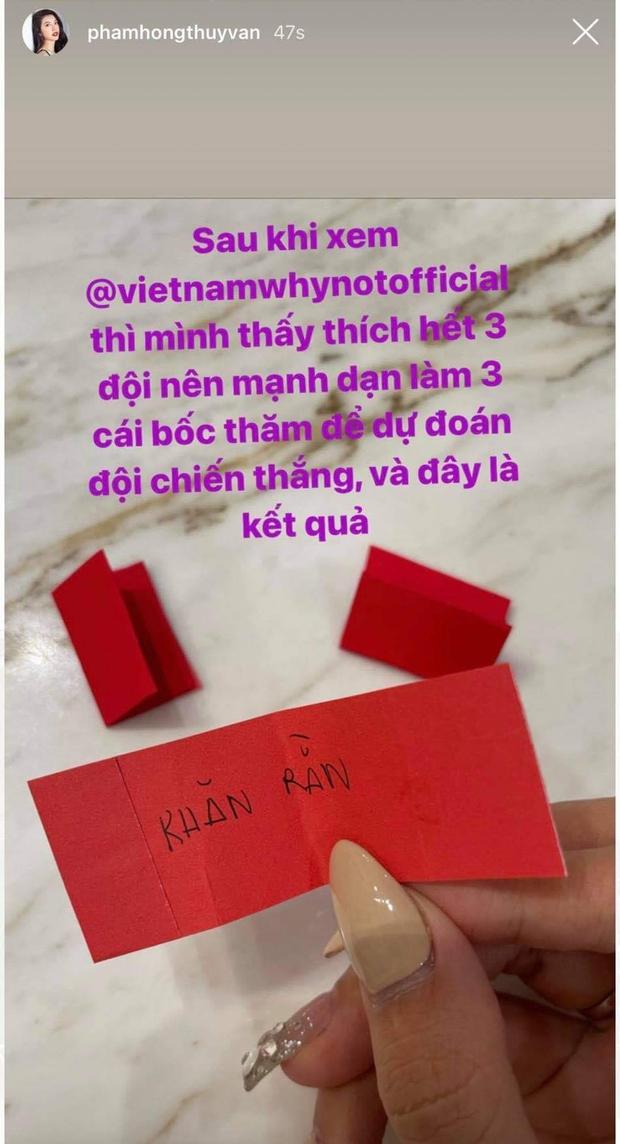 HHen Niê, Nam Em, Mỹ Duyên... thi nhau dự đoán Quán quân Vietnam Why Not - Ảnh 3.