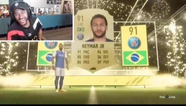 Neymar phấn khích như một đứa trẻ khi mở thẻ ra chính mình trong FIFA 21 - Ảnh 4.