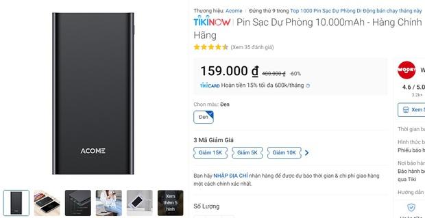 Pin sạc dự phòng đang sale giá tốt: Từ 119k sắm được 1 chiếc yên tâm đi chơi Tết - Ảnh 3.