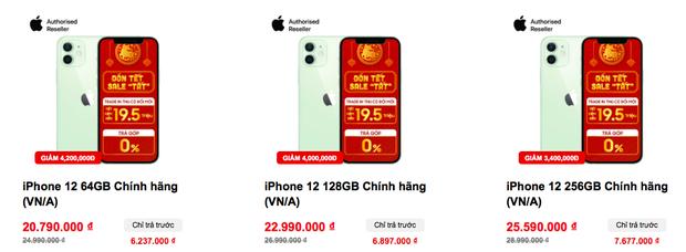 Tất cả các mẫu iPhone 12 đồng loạt giảm giá sâu dịp cuối năm - Ảnh 4.