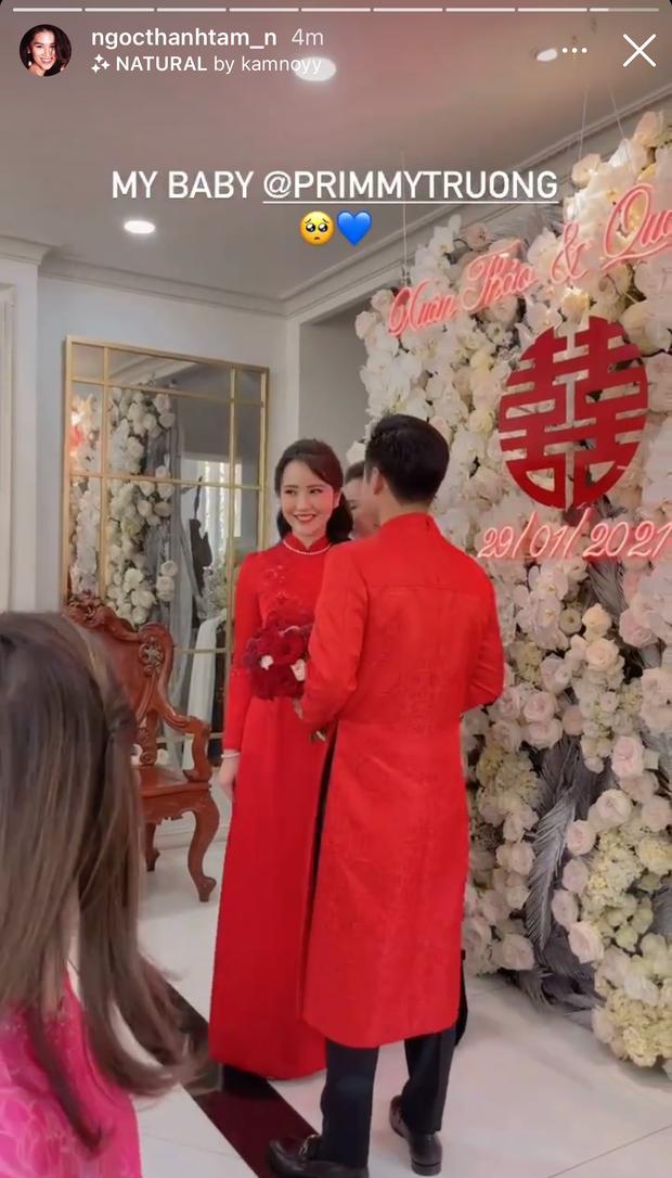 Đám cưới Phan Thành - Primmy Trương: Cô dâu chiếm spotlight với áo dài đỏ, nhẫn kim cương to đùng trên tay nhìn là nể ngay - Ảnh 36.