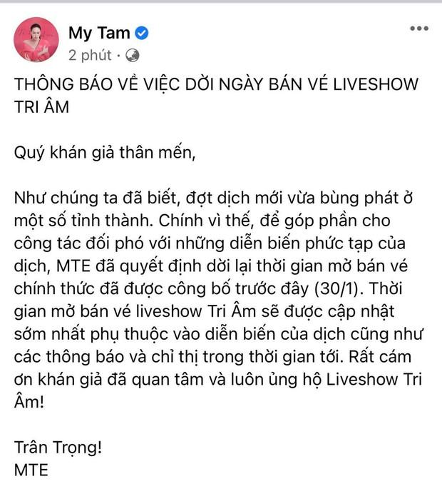 Vbiz tạm đóng băng vì dịch Covid-19: Mỹ Tâm, Trấn Thành lùi dự án khủng, Rap Việt concert và loạt show hot ngừng phút cuối - Ảnh 5.
