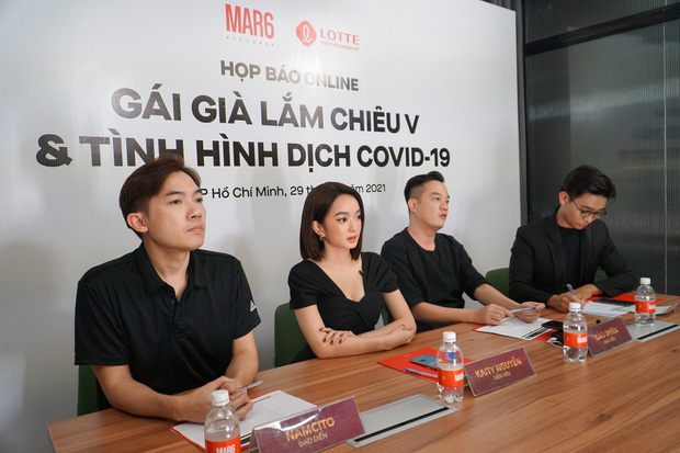 Kaity Nguyễn và ekip Gái Già Lắm Chiêu V khẳng định không dời lịch chiếu Tết ở họp báo online khẩn cấp - Ảnh 2.