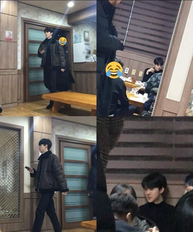 """Bộ dạng các sao Hàn khi được fan bắt gặp đi ăn ngoài: Oh Sehun ảnh cam thường vẫn visual """"huỷ diệt"""", BIGBANG """"cosplay"""" 4 anh em siêu nhân - Ảnh 11."""