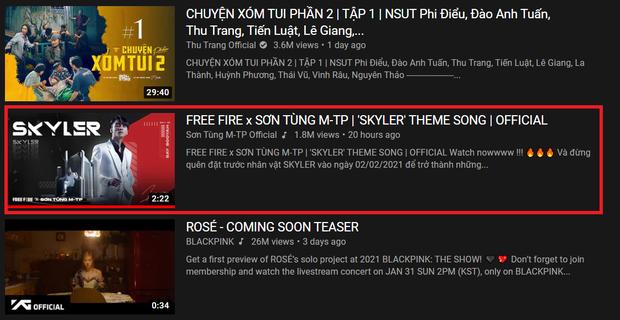 Mặc kệ drama trà xanh, MV Skyler của Sơn Tùng M-TP nhanh chóng lọt top 5 trending YouTube - Ảnh 2.