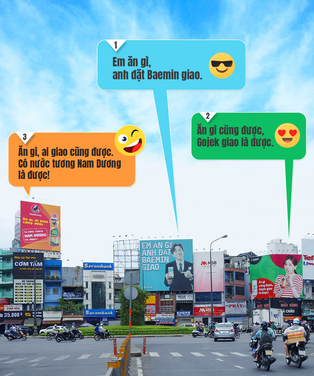 Hari Won - Trấn Thành trở thành tâm điểm đối đáp quảng cáo cực hài hước giữa Baemin và Gojek, nhưng cái tên thứ 3 xuất hiện mới khiến cộng đồng dậy sóng! - Ảnh 3.