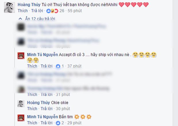 Rộ nghi vấn Minh Tú - Hoàng Thùy không còn làm bạn trên Facebook hậu drama ở show thực tế - Ảnh 2.