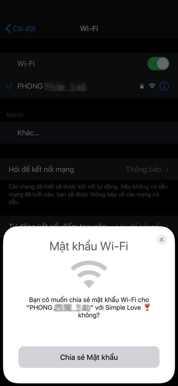 Cách chia sẻ Wi-Fi ngay và liền mà không cần nhập lại mật khẩu trên iPhone - Ảnh 1.