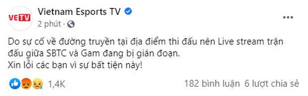 Trận cầu tâm điểm GAM vs SE bị giật lag điên đảo, cộng đồng phẫn nộ chỉ trích VETV thiếu chuyên nghiệp - Ảnh 2.