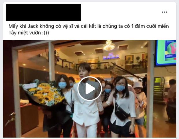 Khi Jack không có vệ sĩ: Cả rừng fan kéo theo nắm tay và phản ứng của khổ chủ tưởng đâu... đám cưới miệt vườn - Ảnh 6.