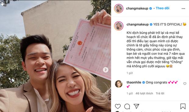 Changmakeup chốt cưới bạn trai yêu 7 năm, tiết lộ vẫn ngượng mồm khi gọi tiếng chồng - Ảnh 1.