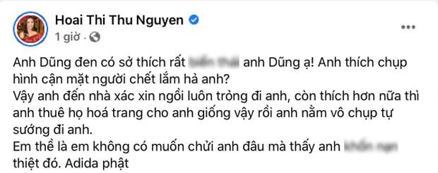 Tiếp biến căng: Hoa hậu Thu Hoài đăng status nói rõ thái độ hậu bị công kích, chồng Thu Phương 1 đáp 1 ngay và luôn - Ảnh 6.