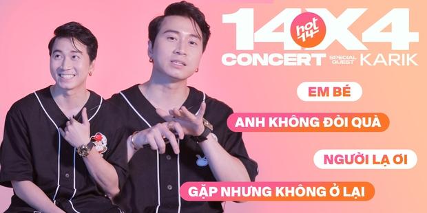 Karik đọc rap Gặp Nhưng Không Ở Lại của Hiền Hồ cực đỉnh nhưng lại lúng túng quên sạch lời hit của mình tại 14X4 Live Concert - Ảnh 1.