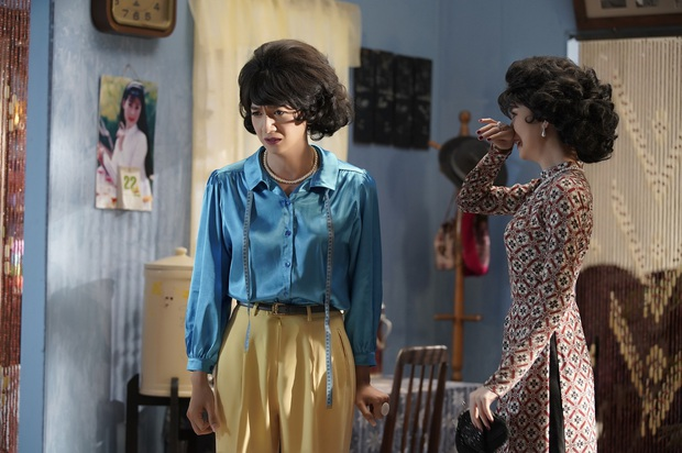 Ngọc Trinh cùng Ngô Kiến Huy hóa Cô Ba Sài Gòn, ghi điểm với màn khóc giả trân vì bị bồ đá ở Em Là Của Em - Ảnh 5.