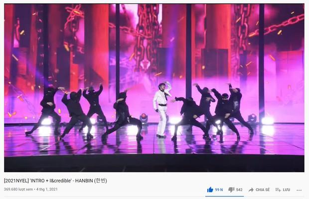 Hanbin được Big Hit đãi ngộ như idol khi cho đăng clip lên kênh chính, sân khấu solo còn có view cao hơn cả GFRIEND và ENHYPEN - Ảnh 3.