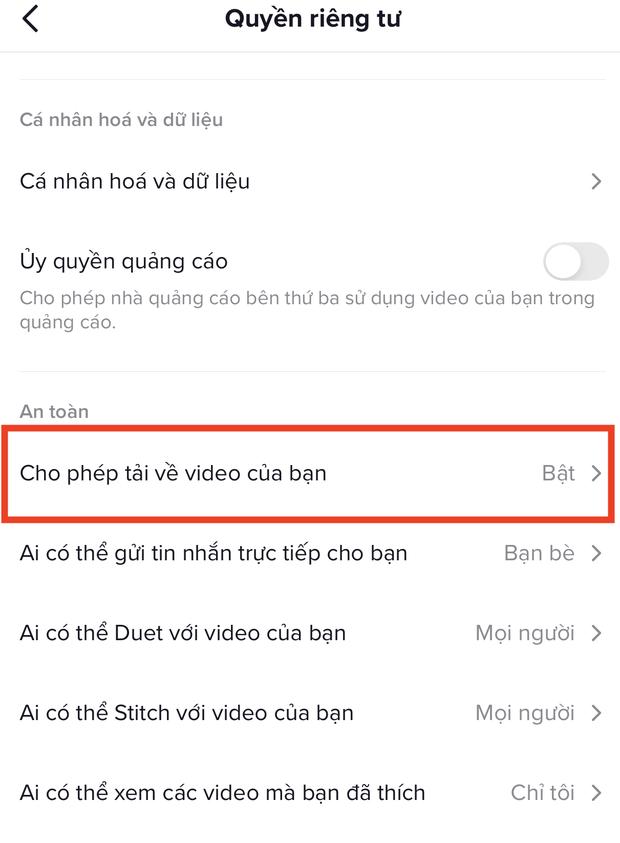 Đây là cách ngăn người khác tải về video trên TikTok của bạn - Ảnh 3.