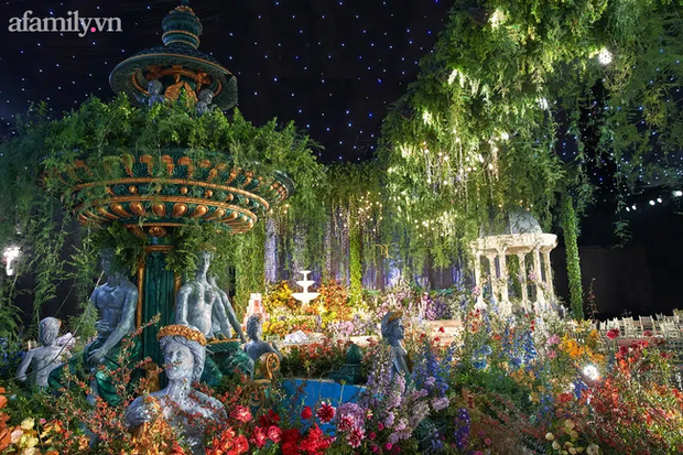 Mãn nhãn với đám cưới Vườn địa đàng concept truyện cổ tích Pháp, hơn 80 loài hoa trải dài lộng lẫy đến từng chi tiết - Ảnh 9.